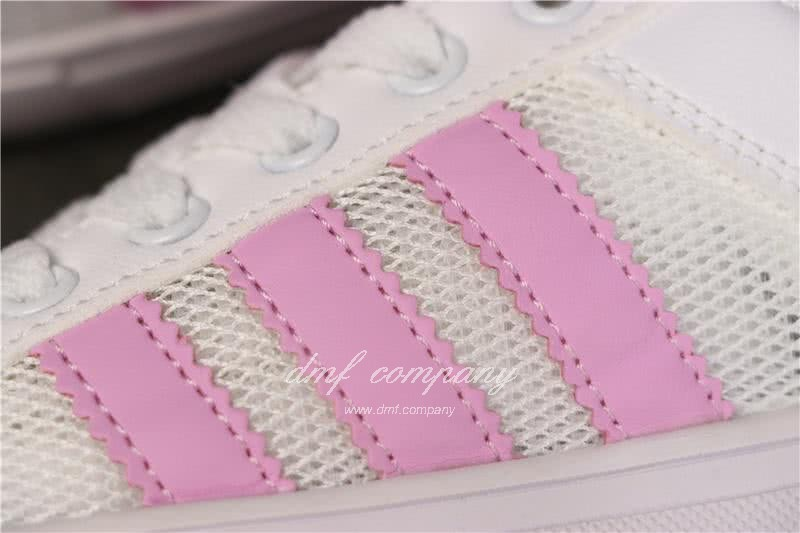 Adidas NEO Shoes White/Pink Women 6