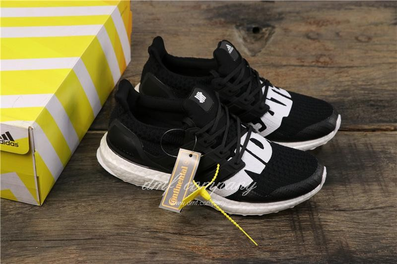 Adidas x Undefeated Ultra Boost 4.0 Men Women Black Shoes 8