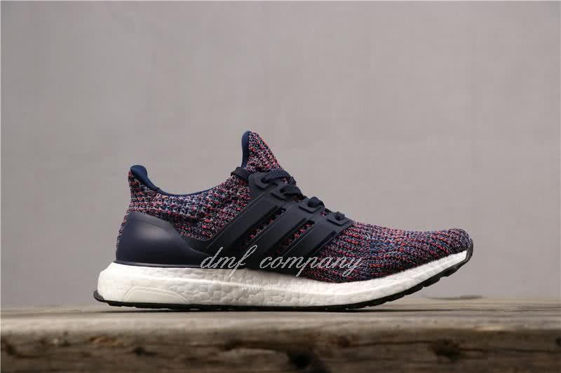 Adidas Ultra Boost 4.0 Men Blue Red Shoes 3