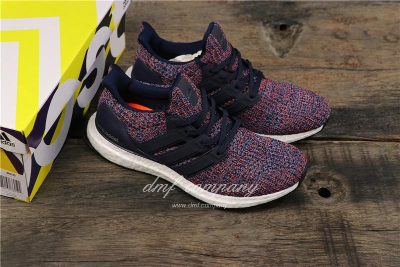 Adidas Ultra Boost 4.0 Men Blue Red Shoes 8