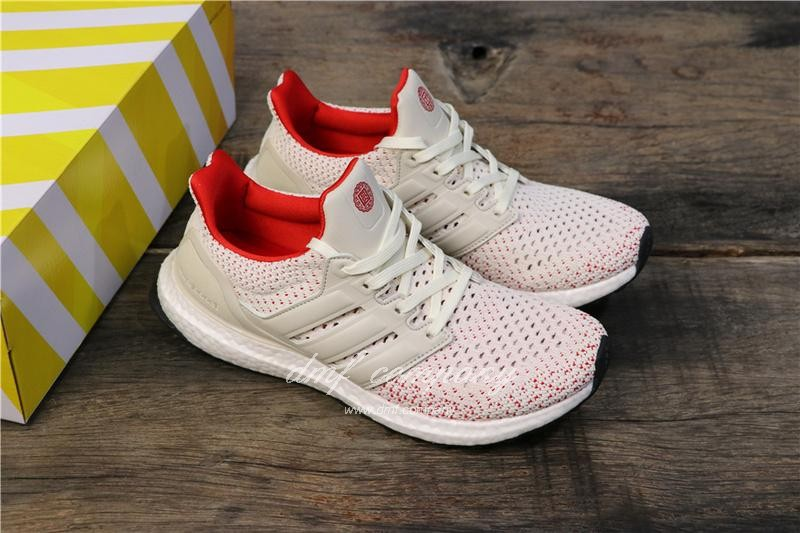 Adidas Ultra Boost TUANYUAN Men White Red Shoes 1