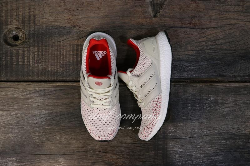 Adidas Ultra Boost TUANYUAN Men White Red Shoes 2