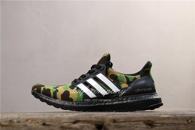 Adidas Ultra Boost 4.0 Men Women Black Green Shoes 2