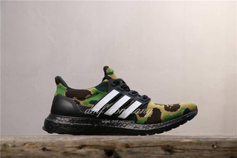 Adidas Ultra Boost 4.0 Men Women Black Green Shoes 3