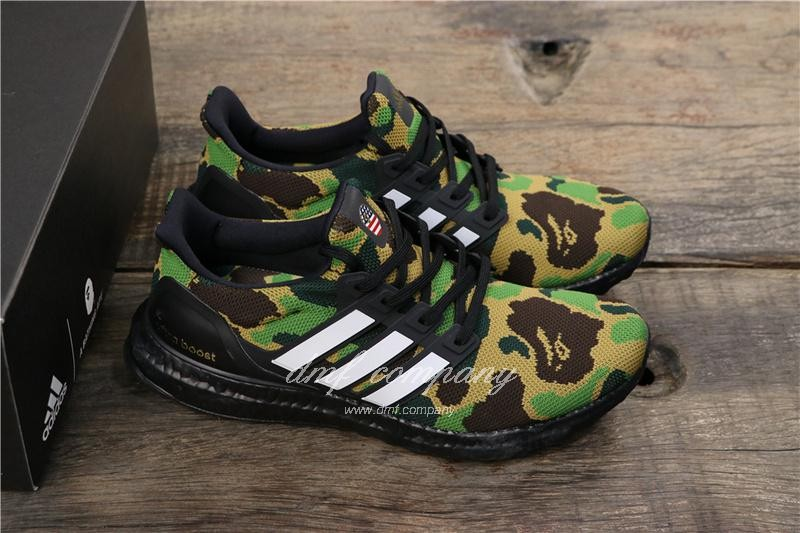 Adidas Ultra Boost 4.0 Men Women Black Green Shoes 1