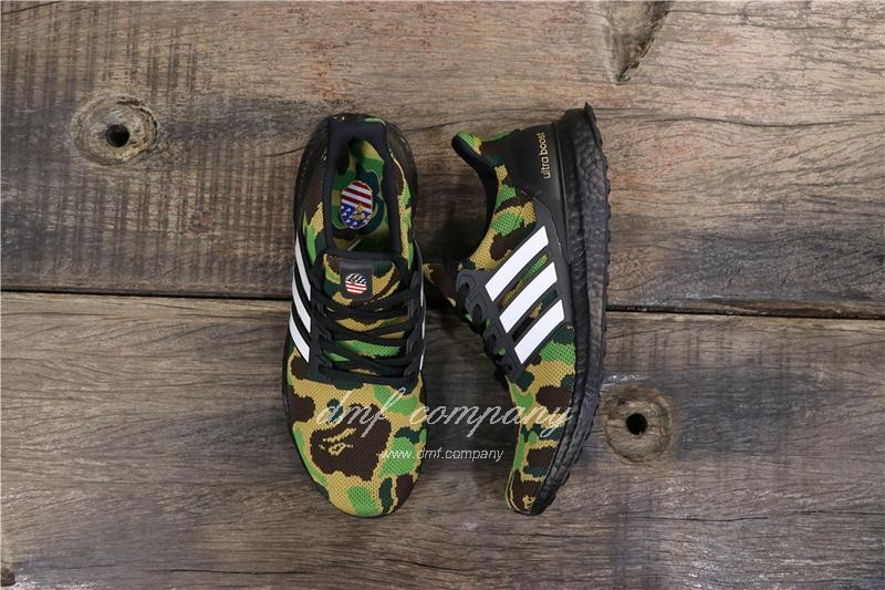 Adidas Ultra Boost 4.0 Men Women Black Green Shoes 8