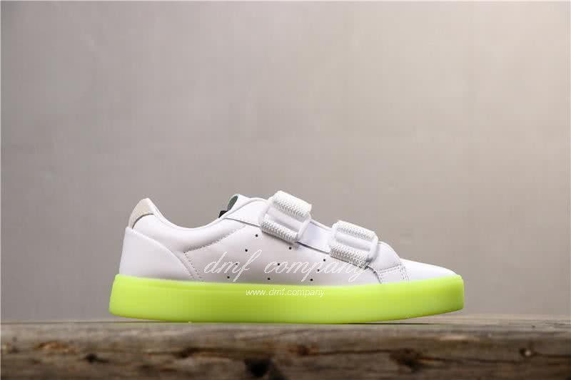 Adidas SLEEK S Women White Green Shoes 3