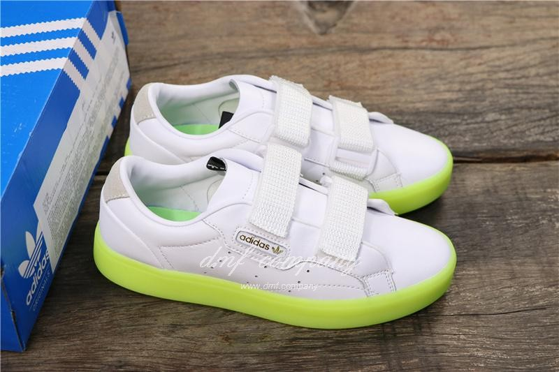 Adidas SLEEK S Women White Green Shoes 8