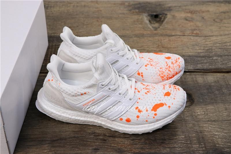 Adidas UltraBoost x Madness Men Orange White Shoes 8