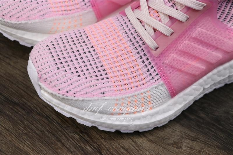 Adidas Ultra BOOST 19W UB19 Women Pink White Shoes 7