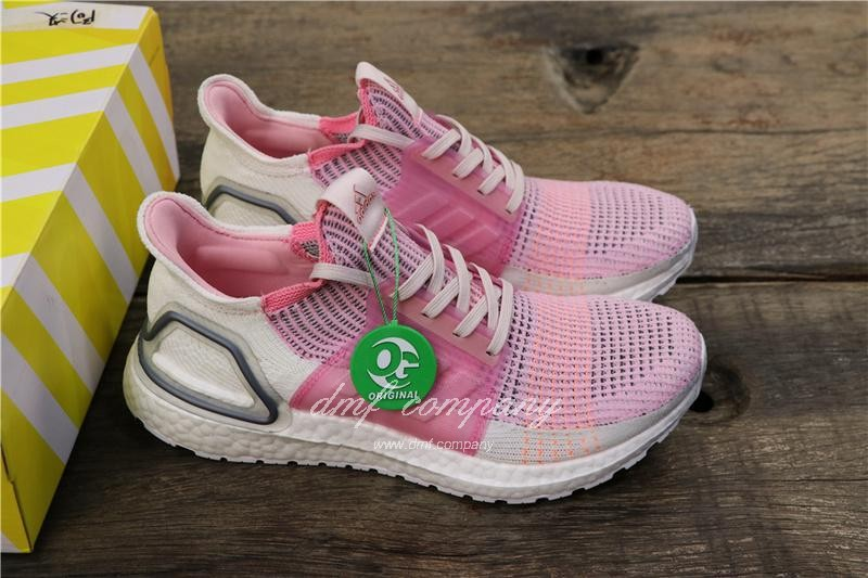 Adidas Ultra BOOST 19W UB19 Women Pink White Shoes 2