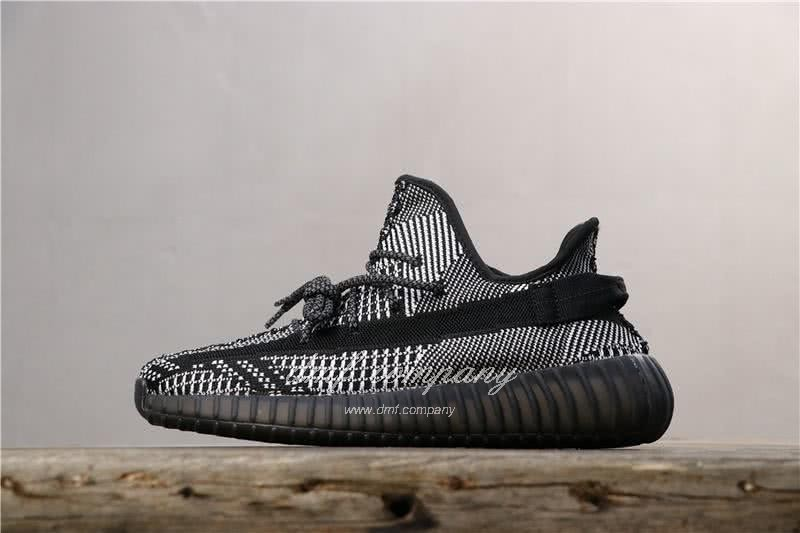 Adidas Yeezy Boost 350 V2 Men Women Black Static Reflective Shoes 1