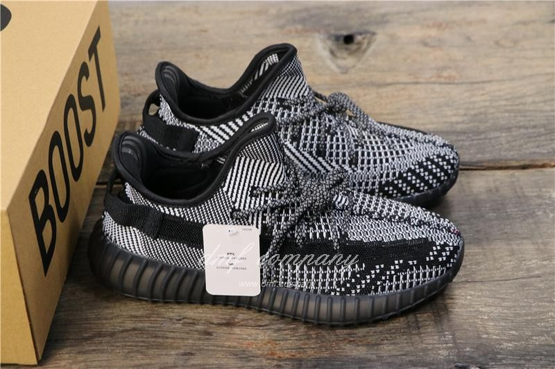 Adidas Yeezy Boost 350 V2 Men Women Black Static Reflective Shoes 7