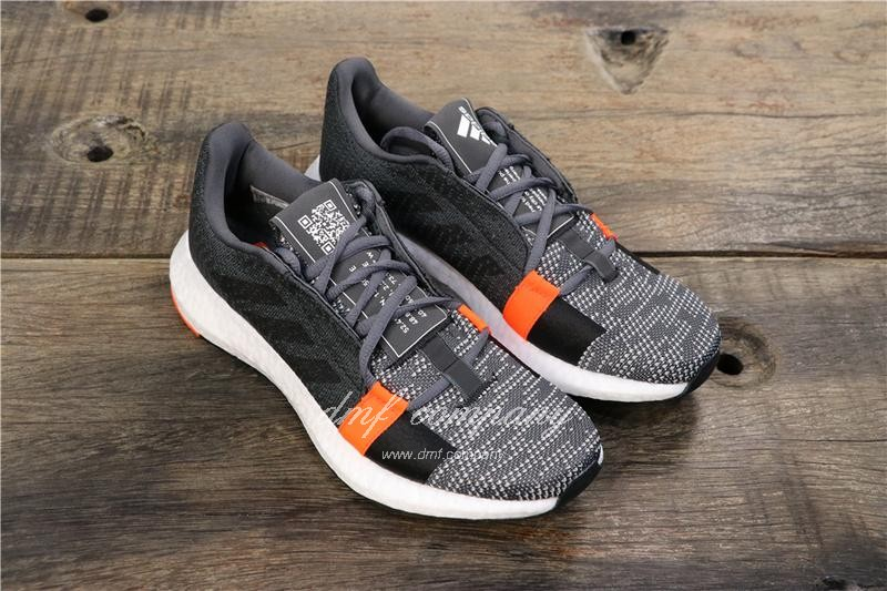 Adidas Sense Boost GO Men Women Black Grey Shoes 1