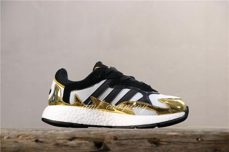 Adidas Tresc Run Women Men Black Gold White Shoes 3