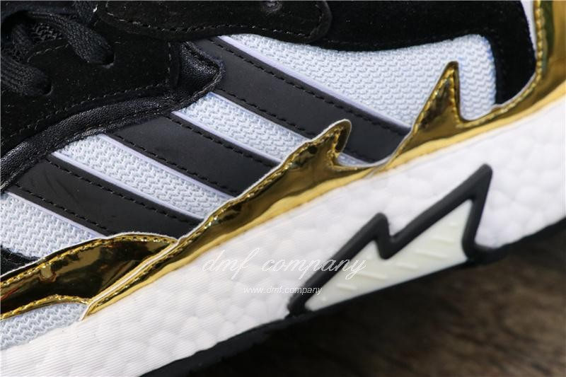 Adidas Tresc Run Women Men Black Gold White Shoes 7