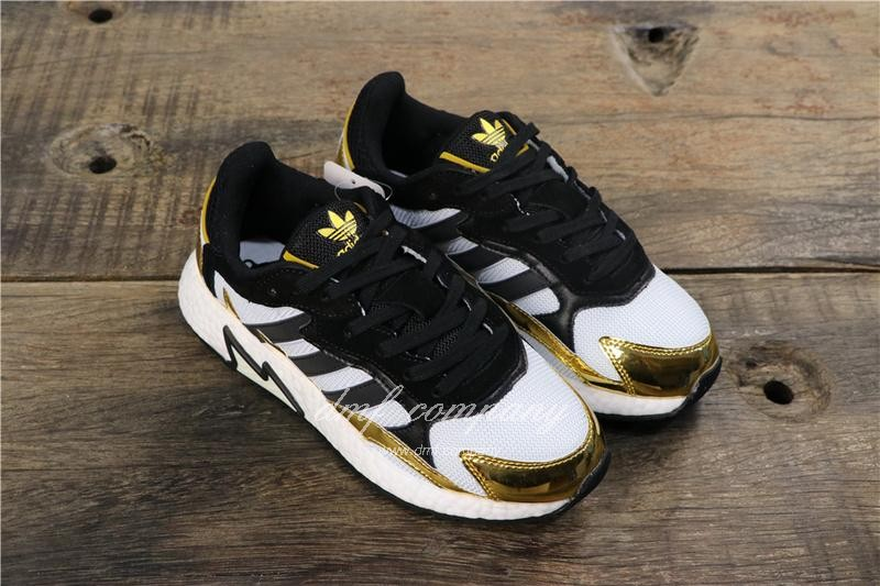 Adidas Tresc Run Women Men Black Gold White Shoes 1