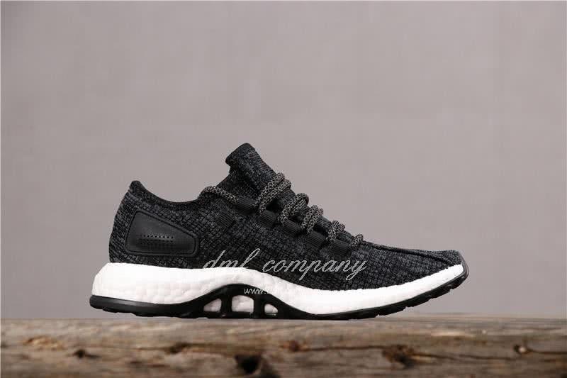 Adidas Pure Boost Men Women Black Shoes 3