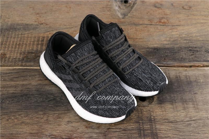 Adidas Pure Boost Men Women Black Shoes 1