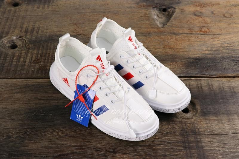 Adidas Extaball M Men White Blue Red Shoes 1