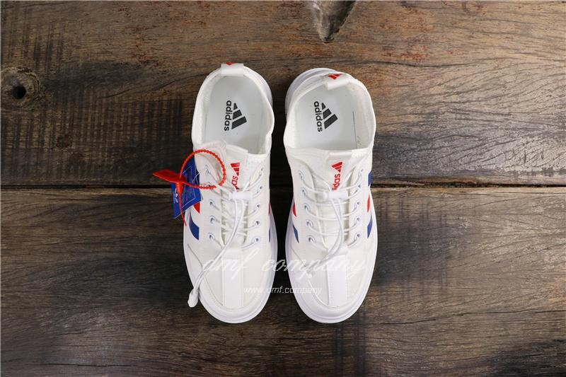 Adidas Extaball M Men White Blue Red Shoes 8
