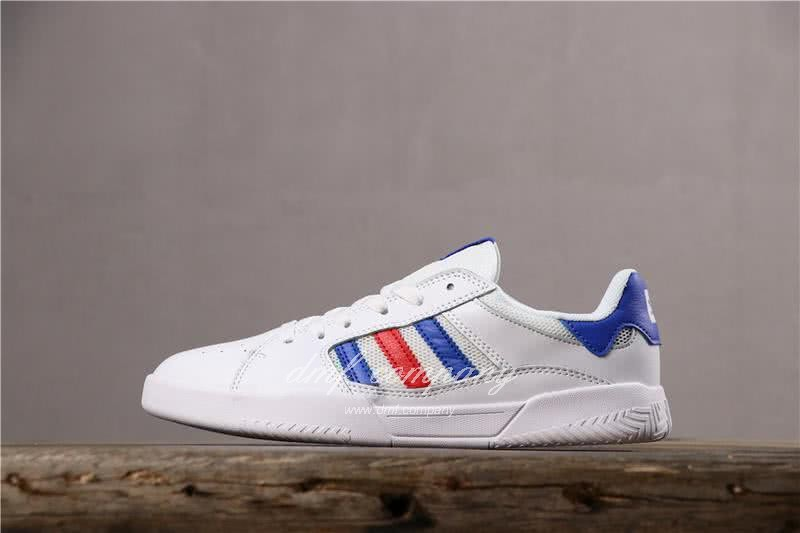 Adidas Vrx Low Men Women White Blue Red Shoes 2
