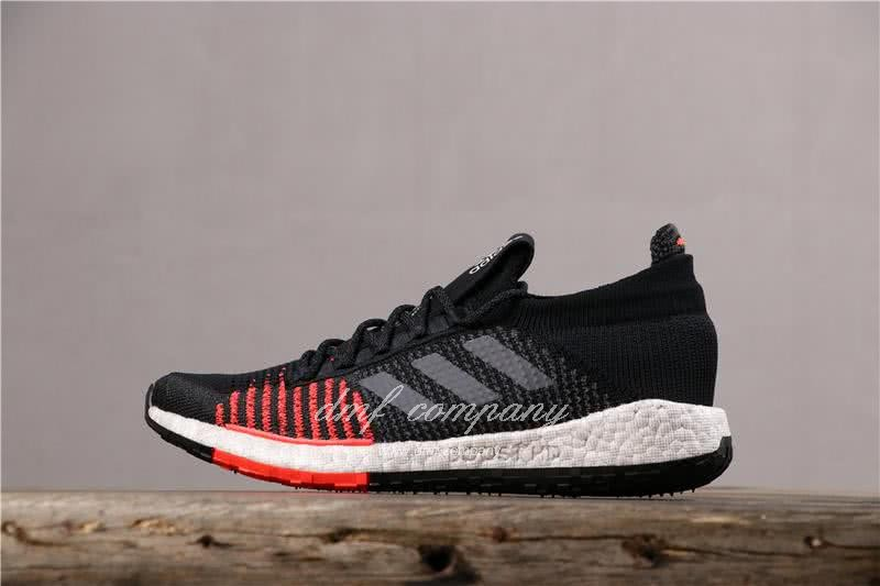 Adidas Pure Boost HD Men Black Red Shoes 2