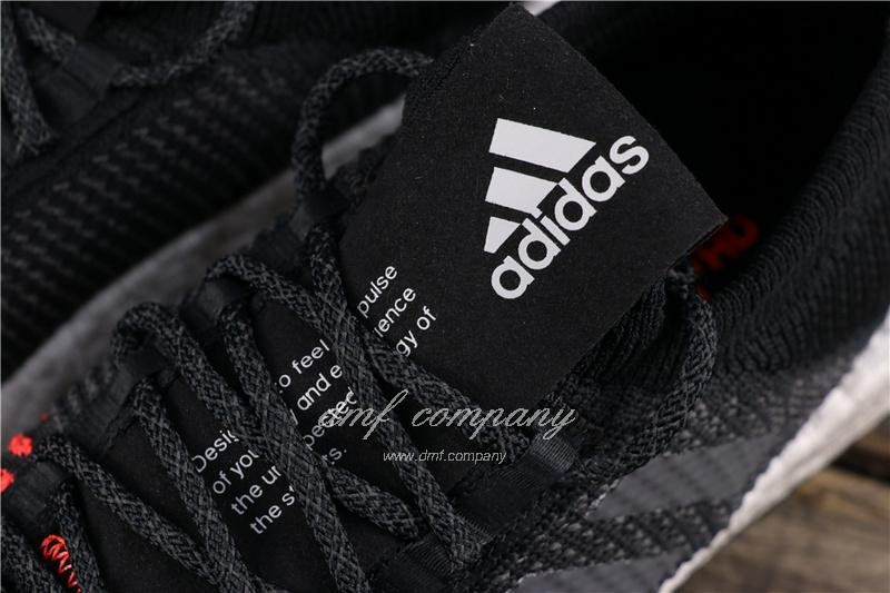 Adidas Pure Boost HD Men Black Red Shoes 7