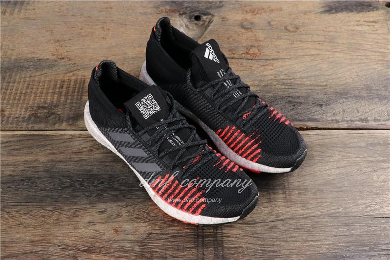 Adidas Pure Boost HD Men Black Red Shoes 1