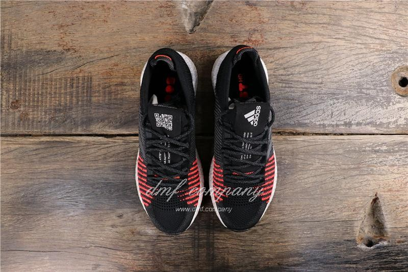 Adidas Pure Boost HD Men Black Red Shoes 8