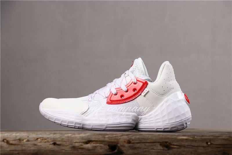 Adidas Harden Vol.4 Men White Red Shoes 2