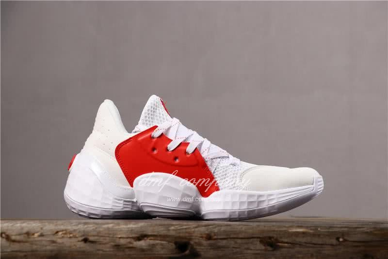 Adidas Harden Vol.4 Men White Red Shoes 3