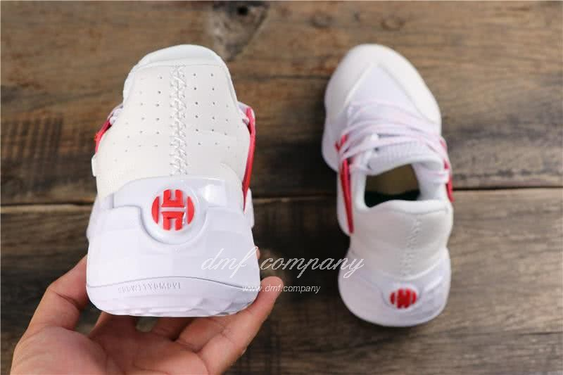 Adidas Harden Vol.4 Men White Red Shoes 5