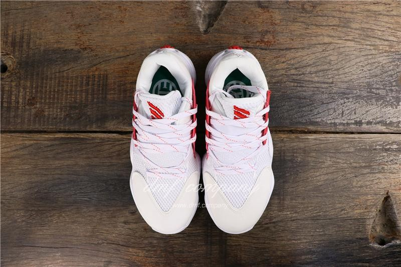 Adidas Harden Vol.4 Men White Red Shoes 8