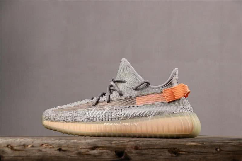 adidas Yeezy Boost 350 V2 Men Women Grey Orange Shoes  1