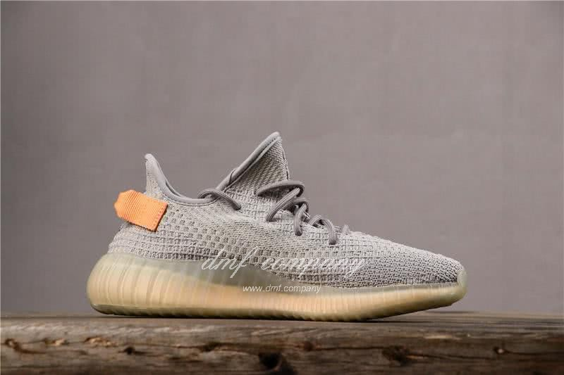 adidas Yeezy Boost 350 V2 Men Women Grey Orange Shoes  2