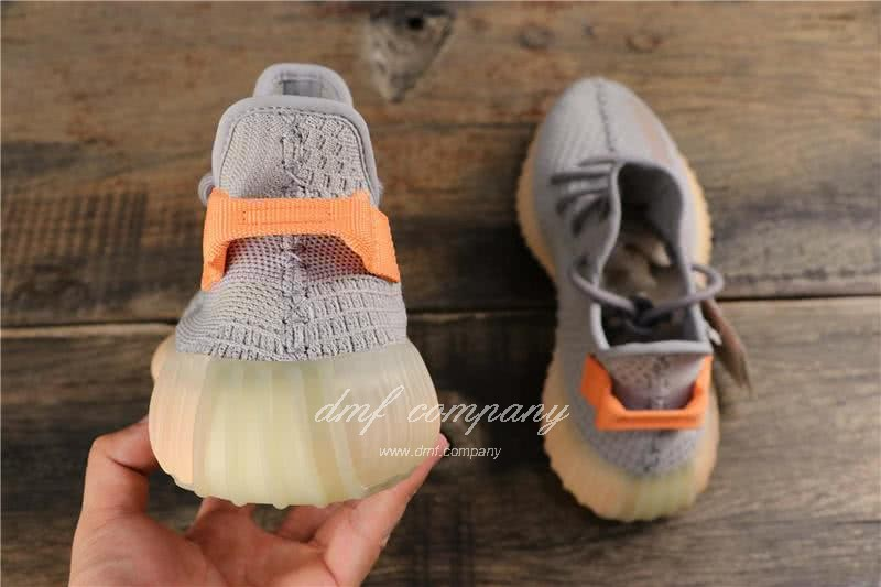 adidas Yeezy Boost 350 V2 Men Women Grey Orange Shoes  4