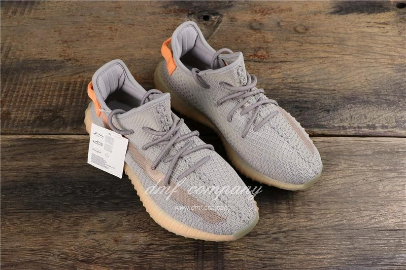 adidas Yeezy Boost 350 V2 Men Women Grey Orange Shoes  7