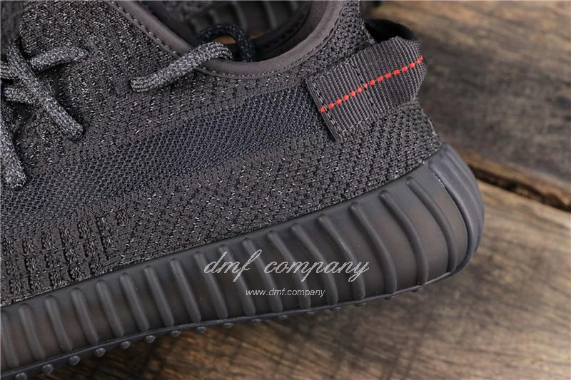 adidas Yeezy Boost 350 V2 Men Women Black Static Shoes  6