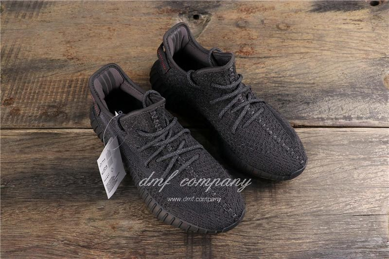 adidas Yeezy Boost 350 V2 Men Women Black Static Shoes  7