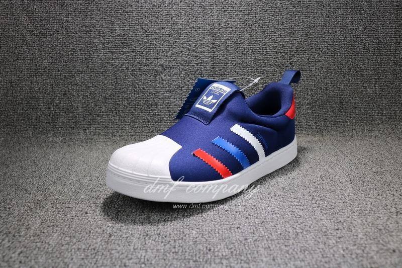 ADIDAS SUPERSTAR 360 Kids Shoes Blue 2