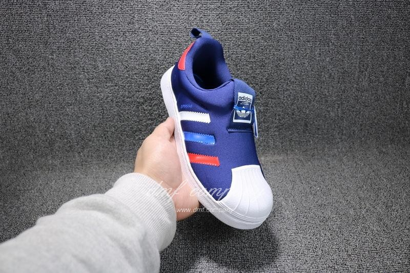ADIDAS SUPERSTAR 360 Kids Shoes Blue 4