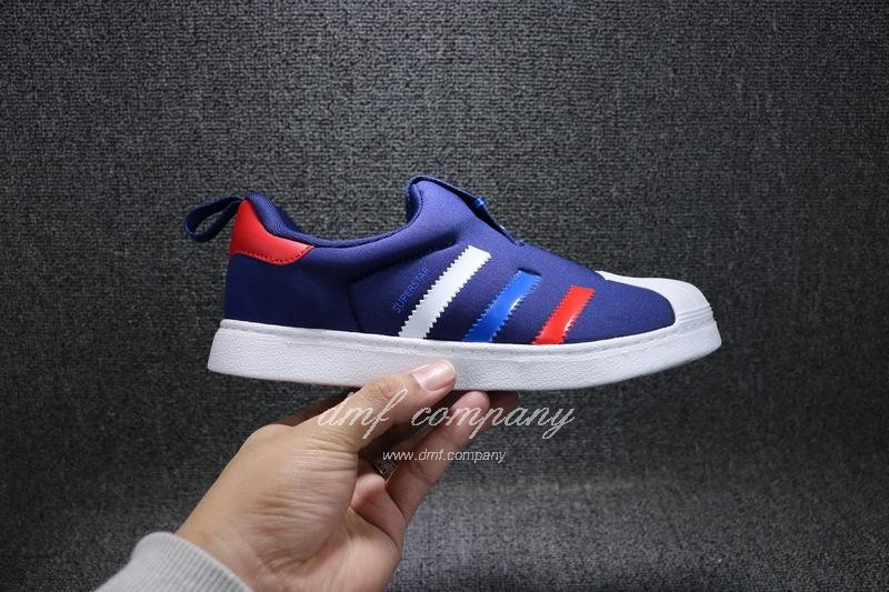ADIDAS SUPERSTAR 360 Kids Shoes Blue 5