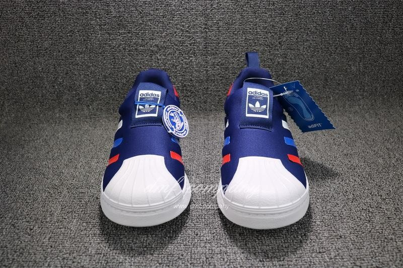 ADIDAS SUPERSTAR 360 Kids Shoes Blue 6