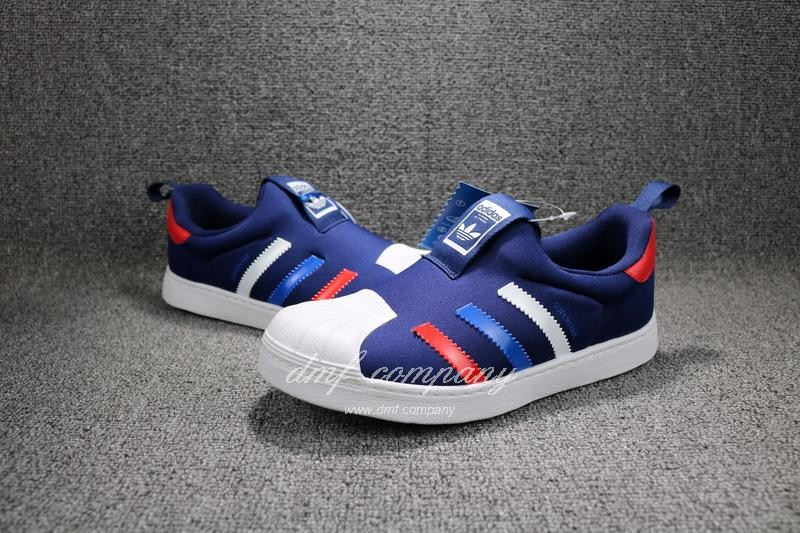 ADIDAS SUPERSTAR 360 Kids Shoes Blue 8