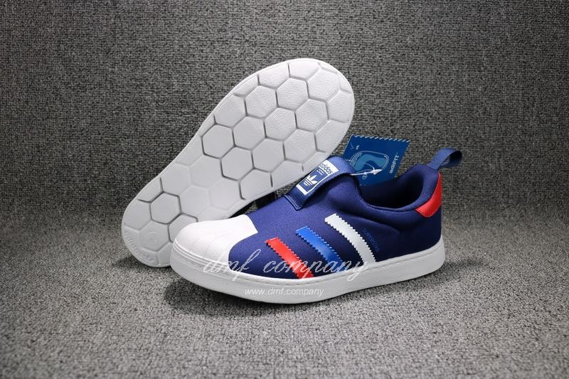 ADIDAS SUPERSTAR 360 Kids Shoes Blue 1