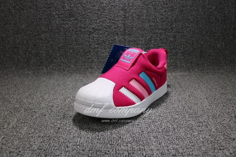 ADIDAS SUPERSTAR 360 Kids Shoes Red 2