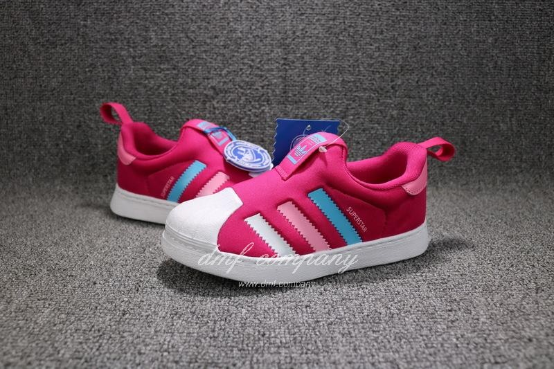 ADIDAS SUPERSTAR 360 Kids Shoes Red 8