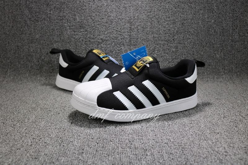 ADIDAS SUPERSTAR 360 Kids Shoes Black 8
