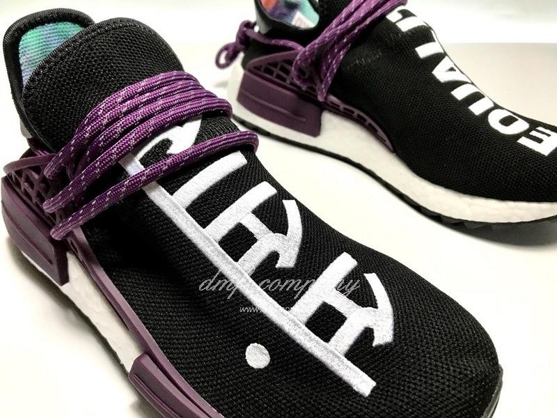 Pharrell Williams x Adidas NMD Black Purple White Men Women 4